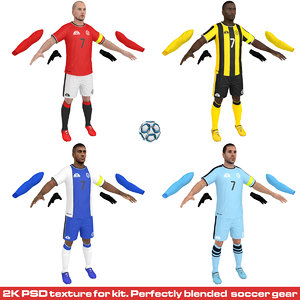 3D pack soccer player