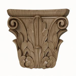 carved scroll 3D model
