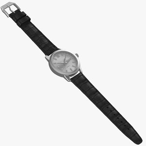 3D realistic classic automatic watch