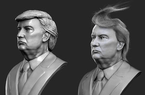 donald trump bust model