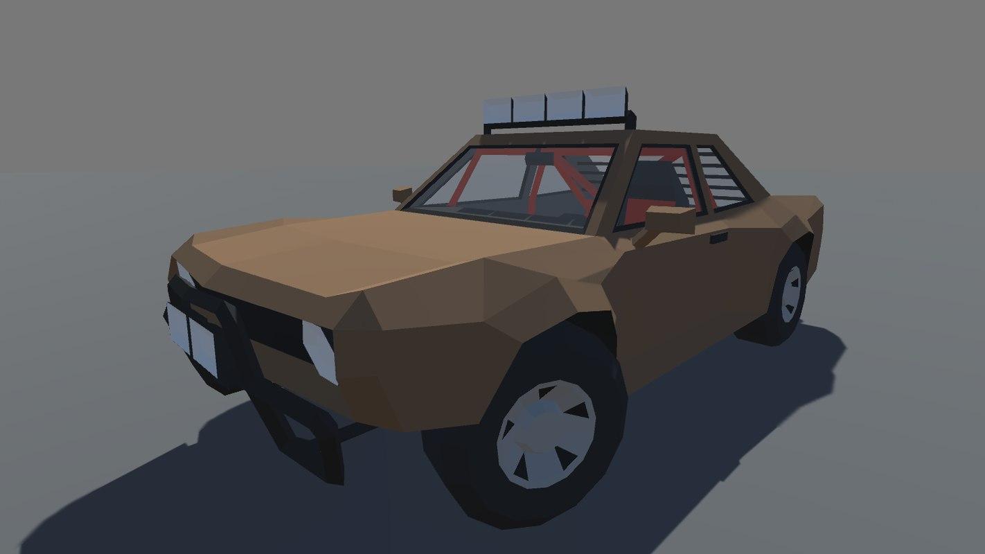 3D car interior ready mobile model