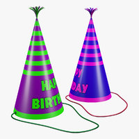 birthday hat paper 3D model