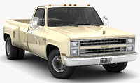 chevrolet c30 silverado dually 3D model
