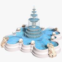 3D fountain flow