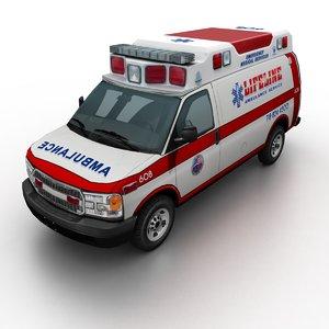 generic ambulance 3D model
