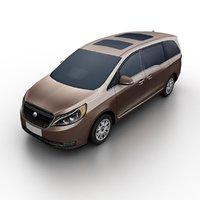 generic minivan 3D