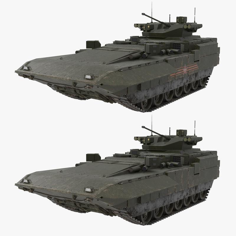 t-15 armata green dirt 3D model
