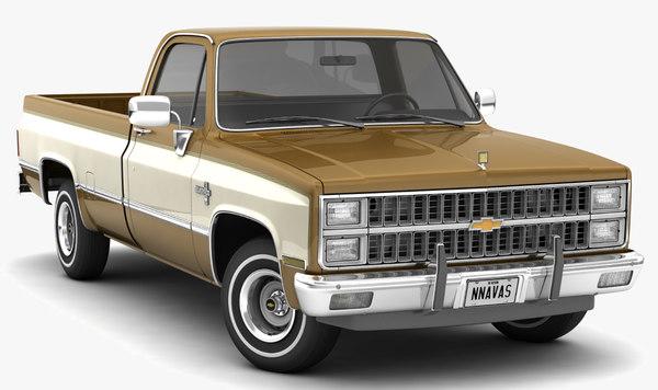 Chevrolet C10 Silverado 1981 2wd 3d Modell Turbosquid 1341261