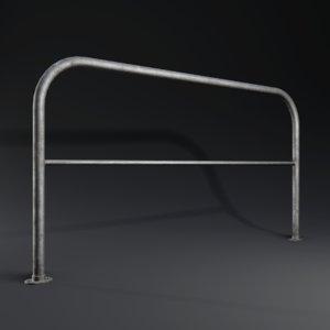 3D realistic railing ready -