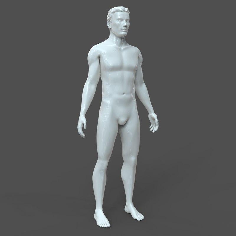 3D male cad model