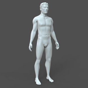 3D male cad model