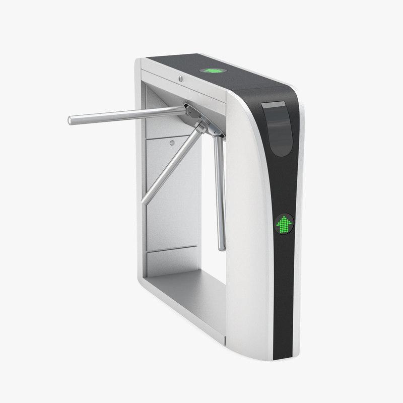 3D model gate tripod stile