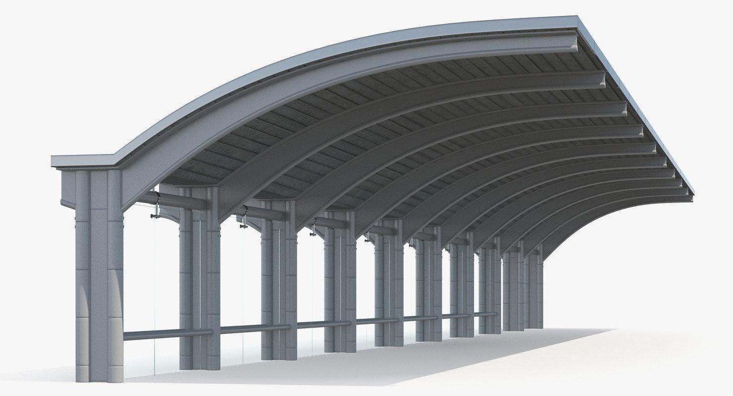 bus stop carport 3D