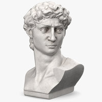 Bust of David by Michelangelo 3D Model