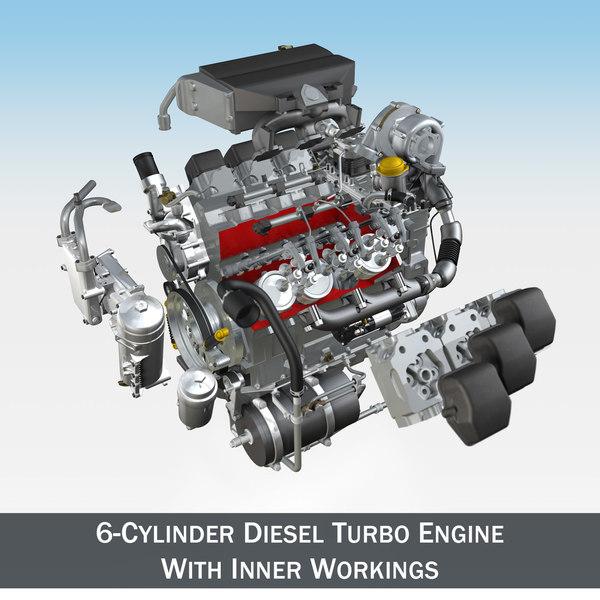 3d 3ds diesel engine parts