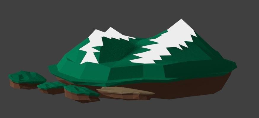 mountain island games 3D model