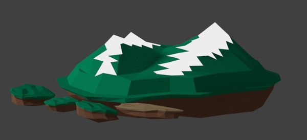 mountain island games 3D model