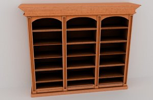 3D affordable fancy wooden bookshelf
