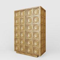 3D antwerp cabinet wood
