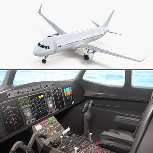 airbus a321neo interior a321 3D model