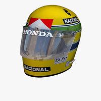 ayrton senna helmet 3D