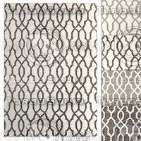 restoration rugs flatweave fretwork 3D model