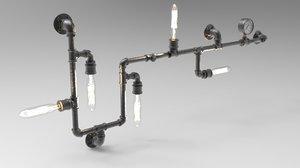 vintage industrial wall light 3D model