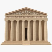 3D parthenon temple