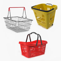 Shopping Baskets 3D Models Collection