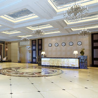 3D model hotel lobby scene