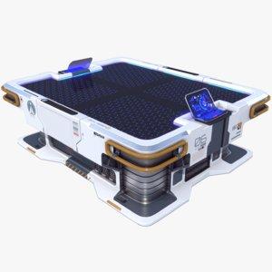 3D sci-fi table pbr