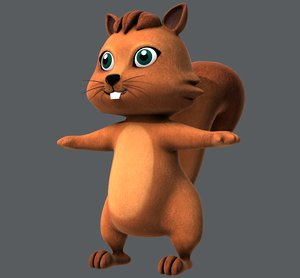 3D squirrel v01