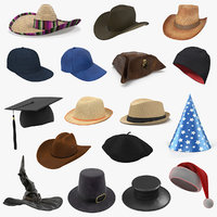 Hats 3D Models Collection 3