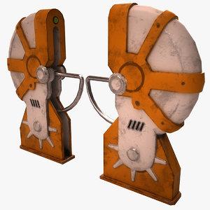 3D old turnstile model