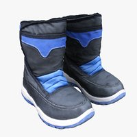 winter kids boots 3D model