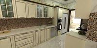 designed architectural kitchen 3D model