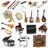 Musical Instruments 3D Models Collection 4