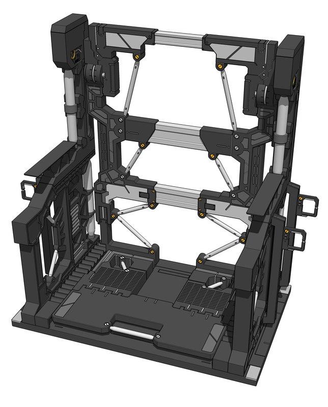 base 001 gundam 3D model