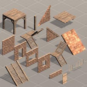 3D model modular base survival