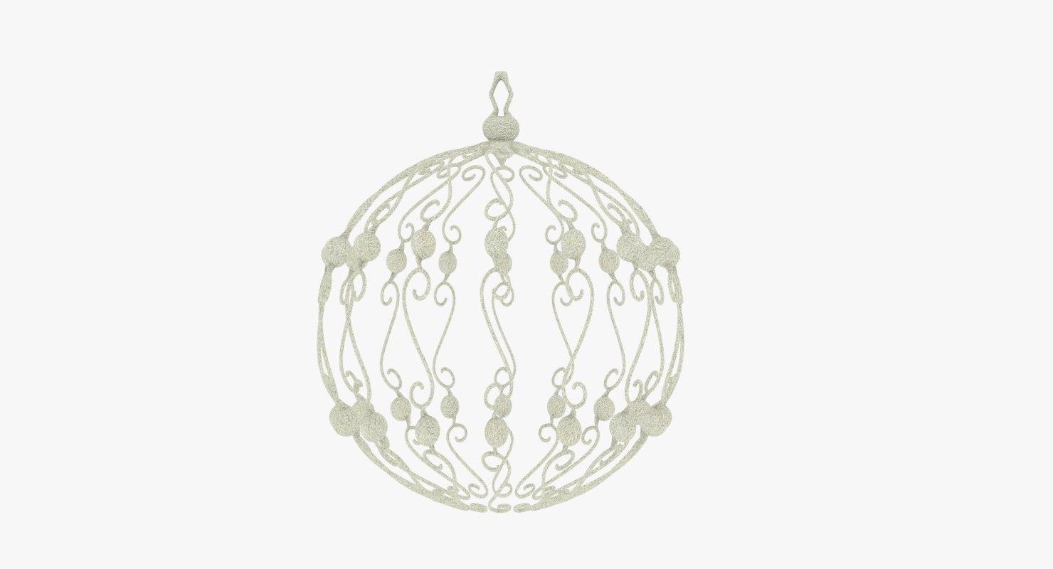 christmas ball white 3D model