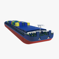 Barge Cargo with Containers