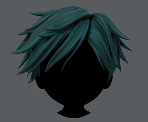 hair style boy v43 3D model