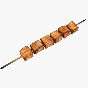 3D model chicken skewers