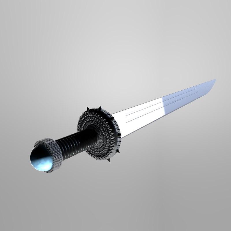 3D sword weapon