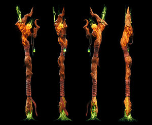 3D model soulkeeper mages staff