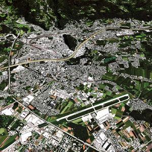 3D salzburg terrain model