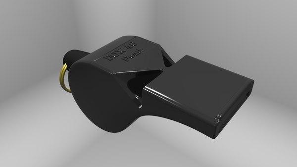 fox 40 mini whistle 3D model