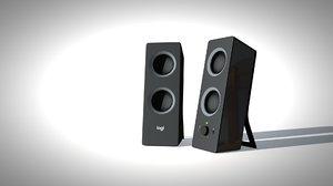 3D logitech speaker