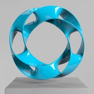 wavy ring 3D model