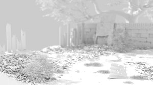scene bushes tree 3D model
